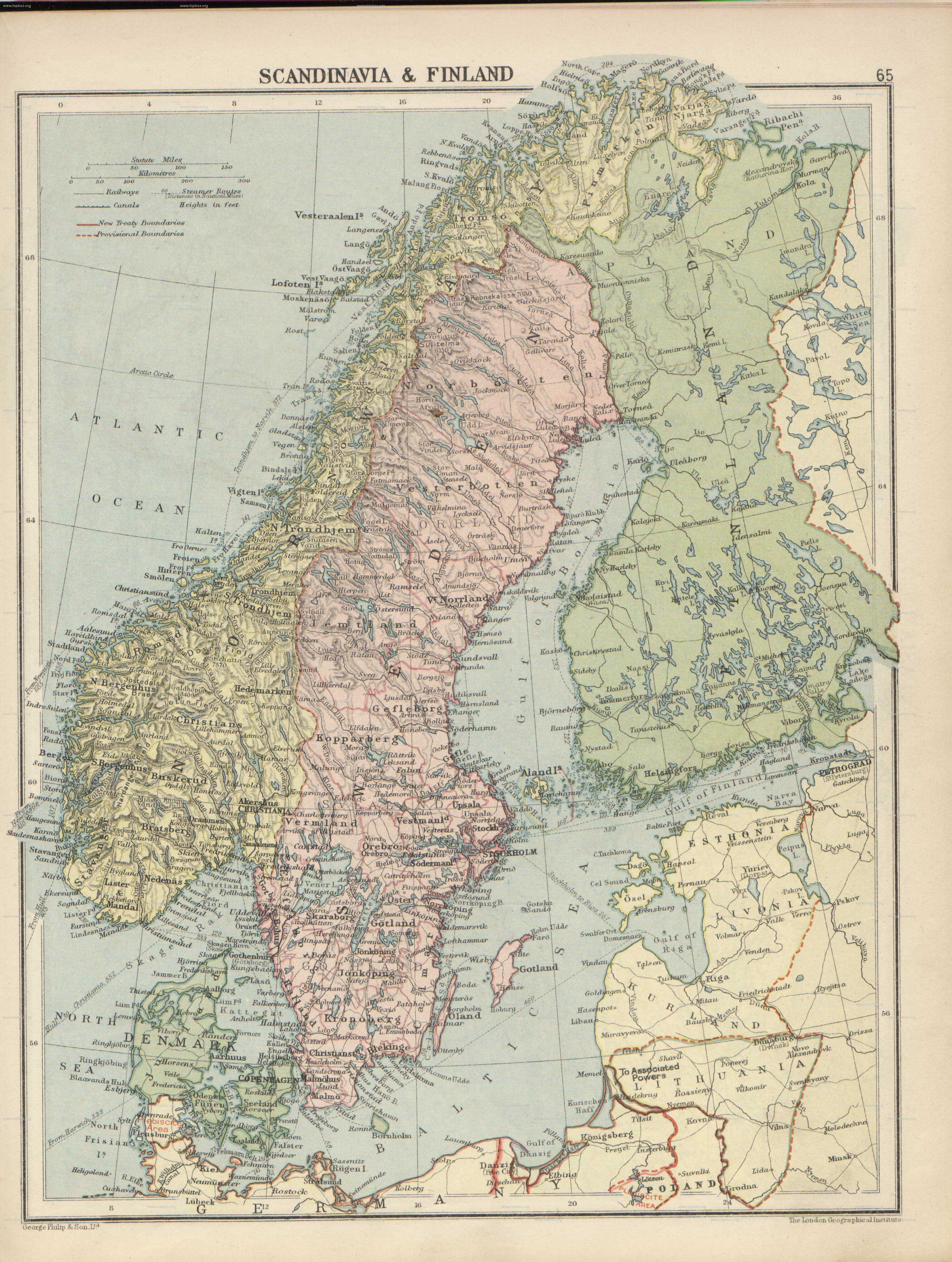 Карта великой финляндии 1920 г