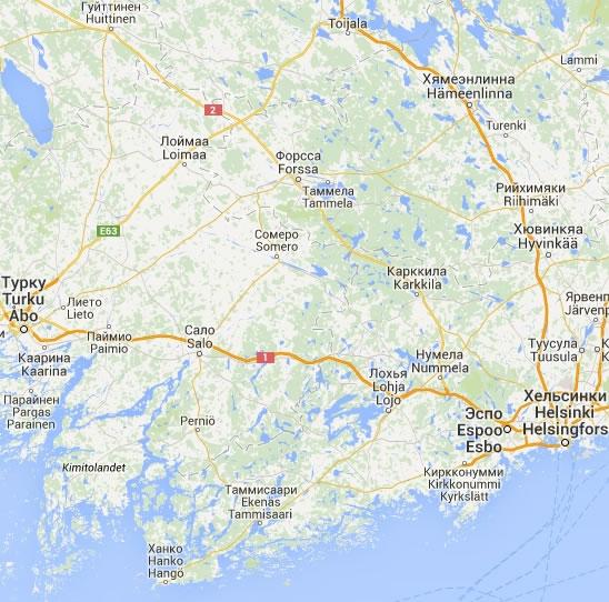Интерактивная карта автодорог