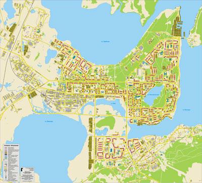 Мончегорск, карта-схема 1:10