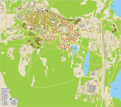 Оленегорск, карта-схема 1:6